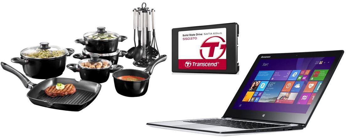 transcend SSD BEEM Germany Startherm 17 teiliges Topfset   bei den 79 Amazon Blitzangeboten bis 11Uhr