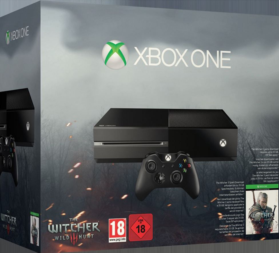 Xbox one   Konsole inkl. The Witcher 3: Wild Hunt 305€