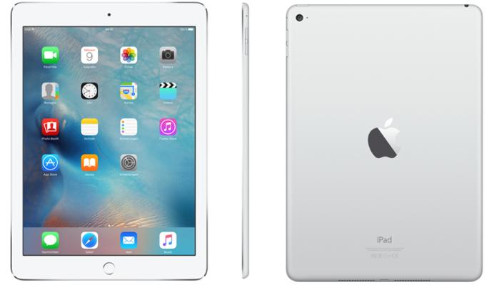 Apple iPad Air 2 64GB Wi Fi für nur 425€ (statt 450€)