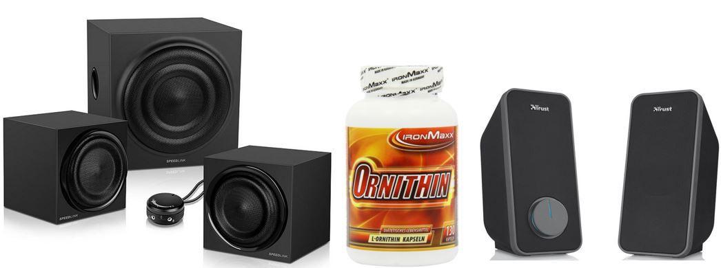 2.1 Lautsprecher sale Ironmaxx Ornithin  130 Kapseln für 15,99€   bei den 37 Amazon Blitzangeboten ab 18Uhr
