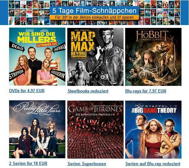 5 Tage Film Schnäppchen mit 5€ Rabatt ab 30€ Einkauf @Amazon   Die Waltons   komplette Serie für 49,97€   Update