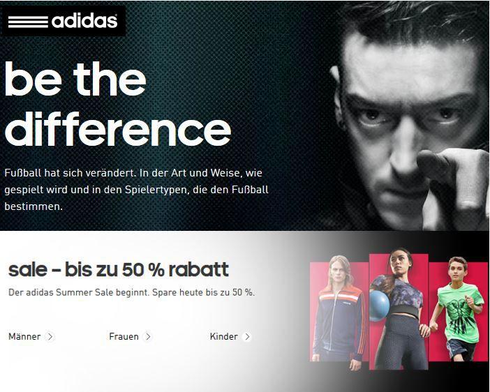 Adidas Sale Adidas Summer Sale mit bis zu 50% Rabatt + 10% Gutschein   Update
