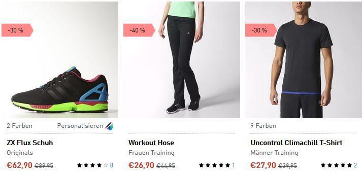 Adidas Sale1 Adidas Summer Sale mit bis zu 50% Rabatt + 10% Gutschein   Update