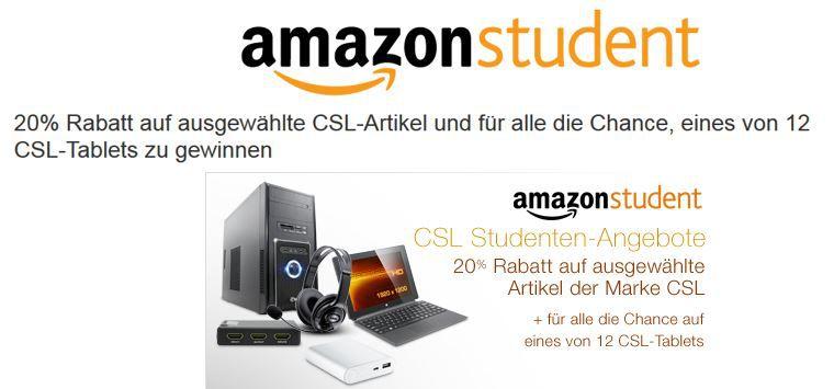 Tipp! Amazon Student mit 20% Rabatt auf ausgewählte CSL Technik Artikel