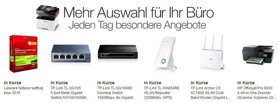 HP Officejet Pro 6830 e All in One Drucker  bei den Amazon Büro Dealtagen von 9 bis 16Uhr