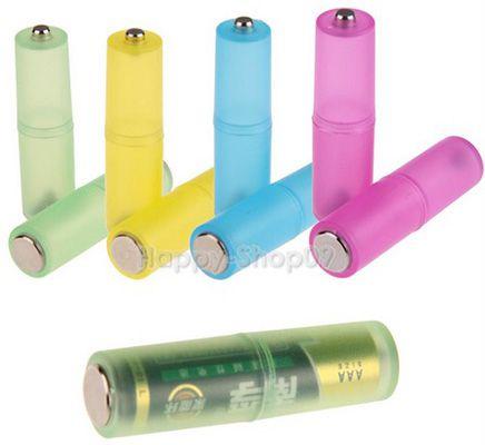 4er Pack AAA zu AA Batterie Konverter in verschiedenen Farben für je 1,08€   China Gadget!