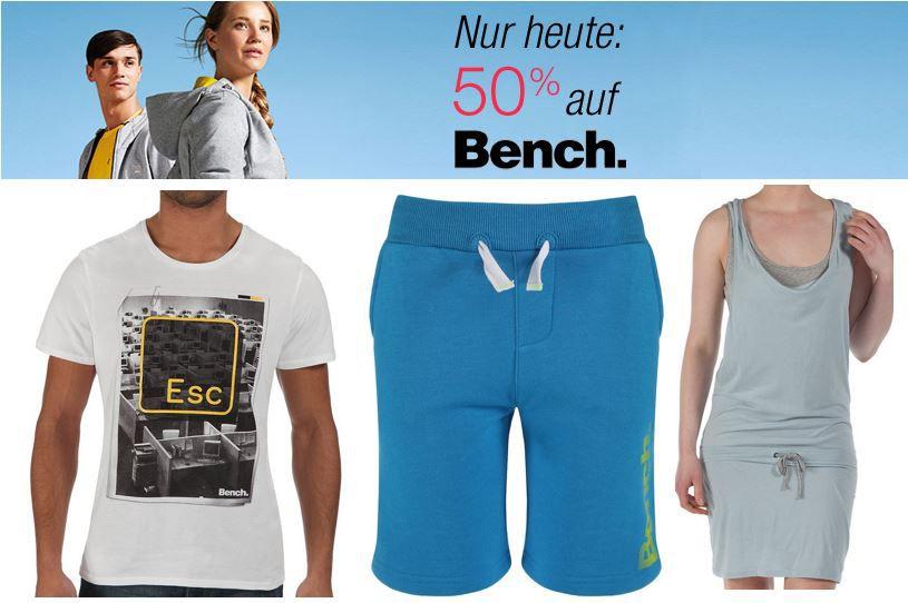 Nur heute: 50% auf ausgewählte Bench  Kleidung   Update