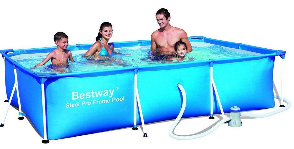 Bestway Frame Pool   300x200cm inkl. Filterpumpe für nur 95,99€