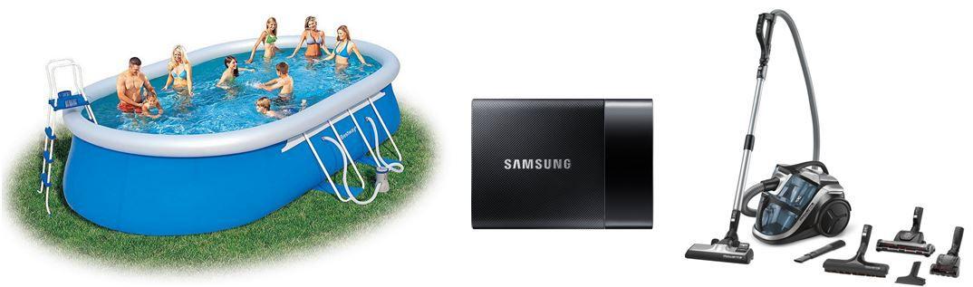 Bestway Ovaler Pool Set mit Filterpumpe + Zubehör   bei den 100 Amazon Blitzangeboten bis 11Uhr