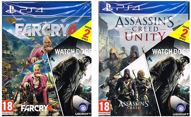 PS4 & Xbox One Big Hit Packs mit je 2 Spielen für 39,90€   z.B. Far Cry 4 & Watch Dogs