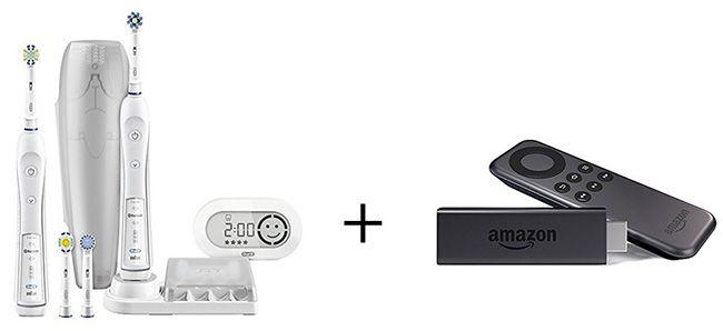 Braun Oral B PRO 6500 elektrische Premium Zahnbürste + Fire TV Stick für 123,94€