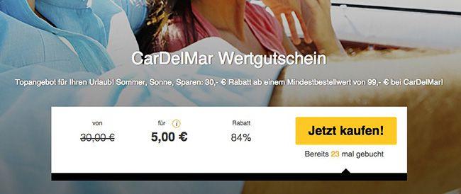 30€ Car Del Mar Wertgutschein für 5€   Weltweit in über 60 Urlaubsländer günstig Autos mieten