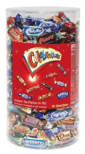 Celebrations Box Celebrations Box mit 1,5kg Schoko ab 14,89€ (statt 18€)