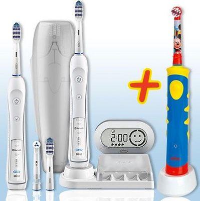 Familyset Oral B Familyset Oral B TriZone 6500 mit 2. Handstück + Oral B Advance Power Kids 950TX für 139,99€