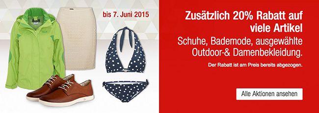 Galeria Bademode 20% Rabatt auf Bademode bei Galeria Kaufhof + 10% Gutschein