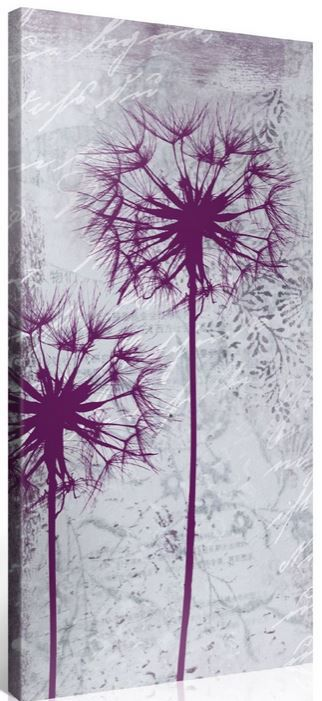 Gallery of Innovative Art   50x100cm Leinwandbild Lila Mohnblume ab 28,95€