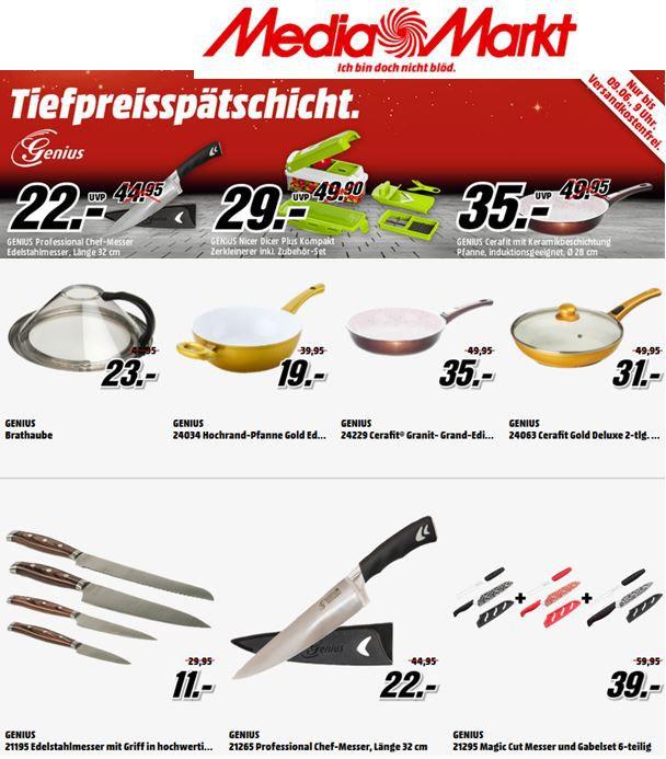 GENIUS 21195 Edelstahlmesser statt 30€ für 11€ in der MediaMarkt GENIUS Tiefpreisspätschicht