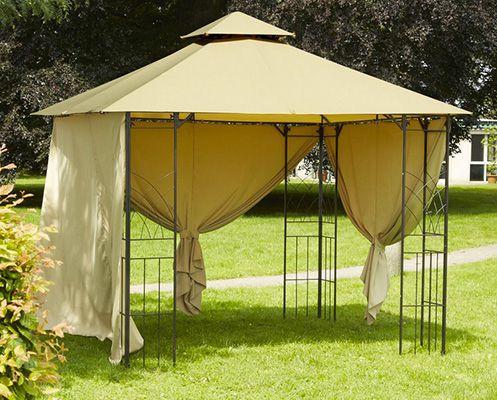 Greemotion Stahl Pavillon Genf in Beige für 104,15€   Maße ca. 300 x 300 x 280 cm