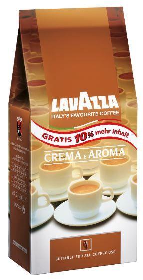LAVAZZA Crema e Aroma 1kg Kaffeebohnen + 10% gratis für 10€