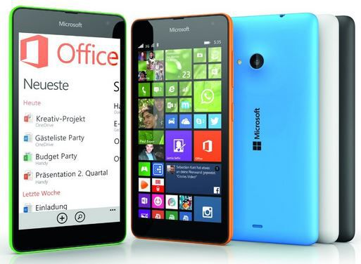 Microsoft Lumia 535 ab 87,35€   dank 10€ Amazon Sofort Rabatt   Update