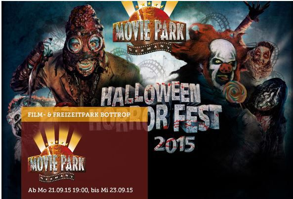 Movie Park (Bottrop)   Halloween Horror Fest inkl. Burger Menü ab 16,50€ dank Neukundengutschein