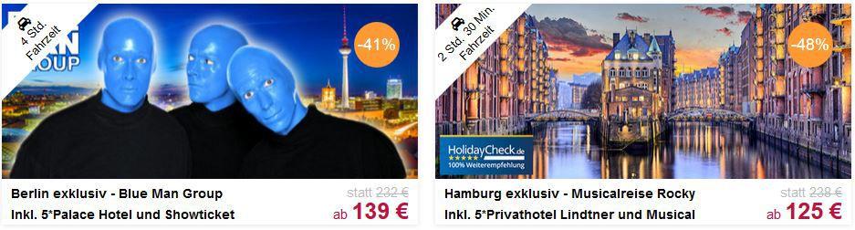 Musical Travador Musical Special   20% auf alle Musical Angebote mit Übernachtung in Berlin, Hamburg u. Stuttgart