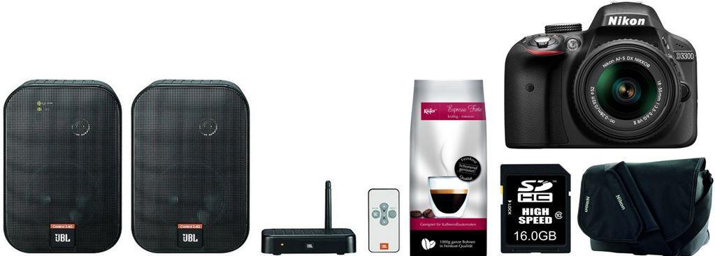 Nikon D3300 SLR inkl. 18 55mm VR II, Tasche und 16GB Speicher für 399€   bei den 54 Amazon Blitzangeboten ab 18Uhr