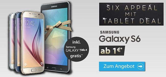 Samsung Galaxy S6 32GB + Galaxy Tab 4 + Otelo Allnet Flat XL für 32,87€ monatlich