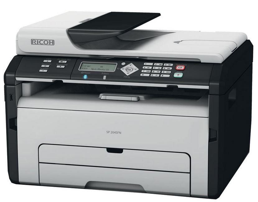 Ricoh SP 204SFNW   WLan mono Laserdrucker, Scanner, Kopierer, Fax für 89,95€