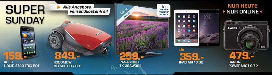 ACER Liquid E700 Trio Smartphone ab 154€ und mehr Saturn Super Sunday Angebote   Update