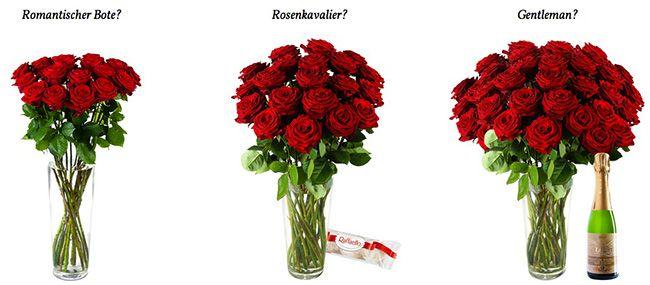 Günstige Sträuße mit roten Rosen bei Miflora   teilweise mit Beilagen, z.B. Raffaello   Update