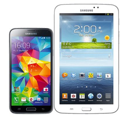 Samsung Galaxy S5 LTE 16GB + Samsung Galaxy Tab 3 7.0 Lite für 389,95€