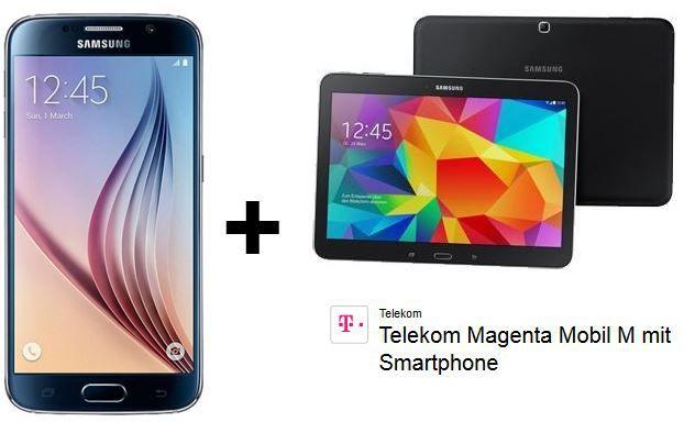 Samsung Galaxy S6 + Galaxy Tab 4 10.1 + Telekom Magenta Mobil M Allnet Flat mit 1,5 GB für 49,95€ mtl.
