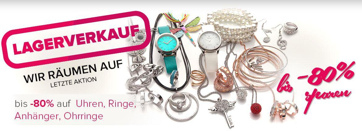 Silvity   großer Mode Schmuck und Uhren Lagerausverkauf mit Rabatten bis zu 80%