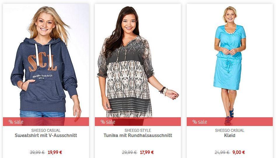 sheego Summer Sale   Damen Fashion mit bis zu 60% Rabatt + 15€ Neukundinnen Gutschein (MBW 30€)   Update