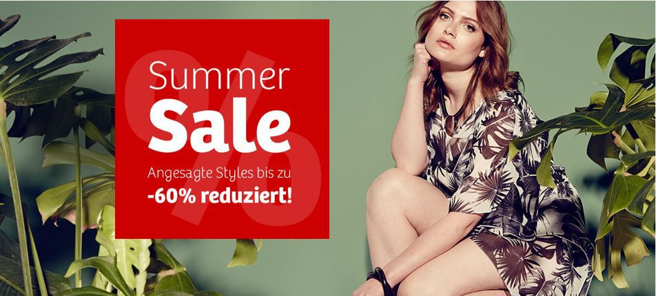 sheego Summer Sale   Damen Fashion mit bis zu 60% Rabatt + 15€ Neukundinnen Gutschein (MBW 30€)   Update
