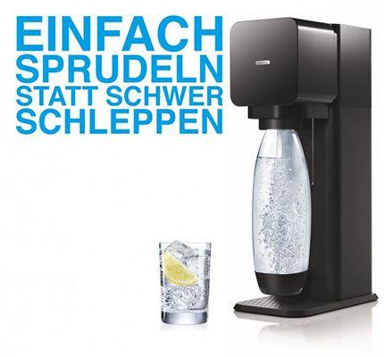 SodaStream Play Wassersprudler SodaStream Play Wassersprudler + PET Flasche + Zylinder für 29,30€   B Ware!