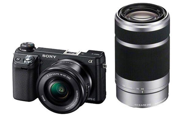 Sony NEX 6YB Systemkamera + SEL P1650 und SEL 55210 Objektiv für 628€