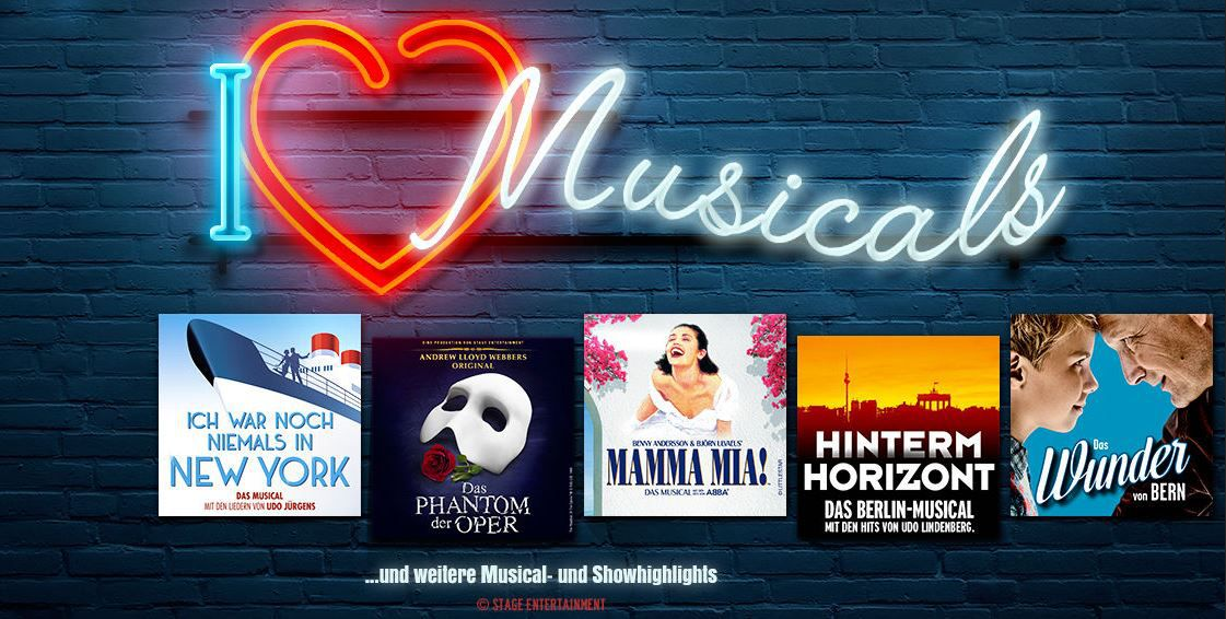 Stage Musicals günstig Stage Musicals Tickets in Berlin, Hamburg, Stuttgart und Oberhausen inkl. Hotel Übernachtung ab 99€