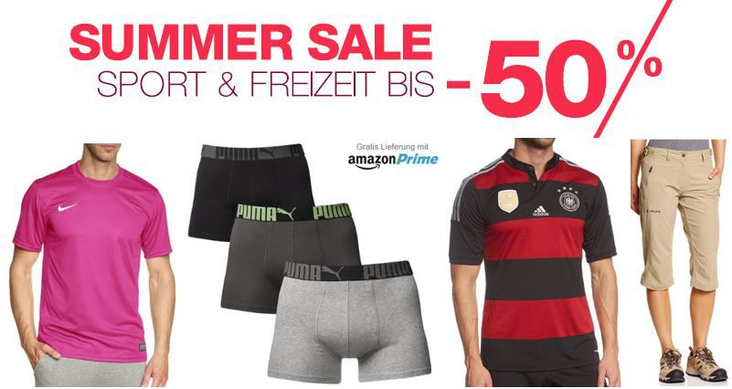 Sport & Freizeit Summer Sale bis  50% Rabatt @Amazon