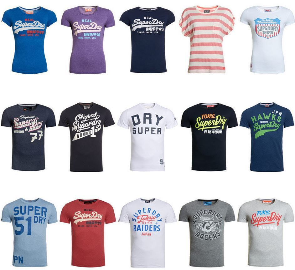 SuperDry   Herren & Damen T Shirts je 12,95€ inkl. VSK