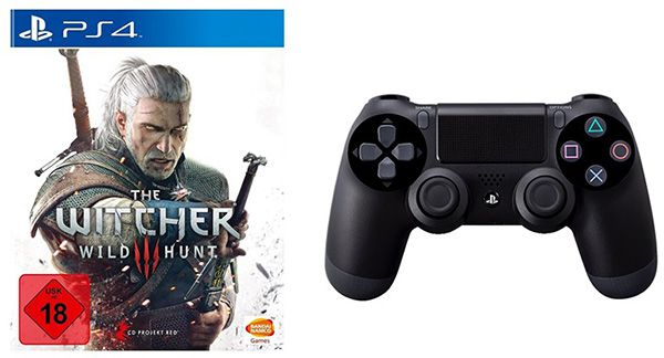The Witcher 3 The Witcher 3: Wild Hunt (PS4) + PS4 Controller für 79,99€