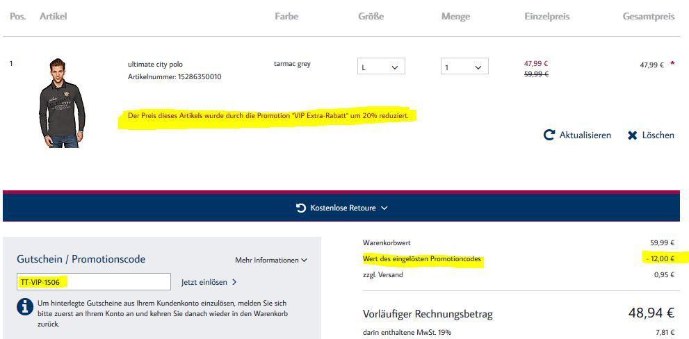Tom Tailor mit 20% Extra Rabatt auf alles (nicht im Sale) + 20% NL Gutschein