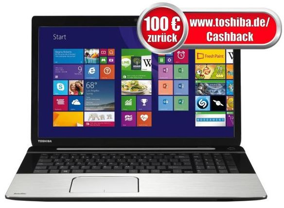 Toshiba Satellite S70 B 106   17Zoll i7 Full HD Notebook, 8 GB RAM, 1 TB HDD, Radeon R9 für effektiv 799€   bei den Cyberport Weekend Deals