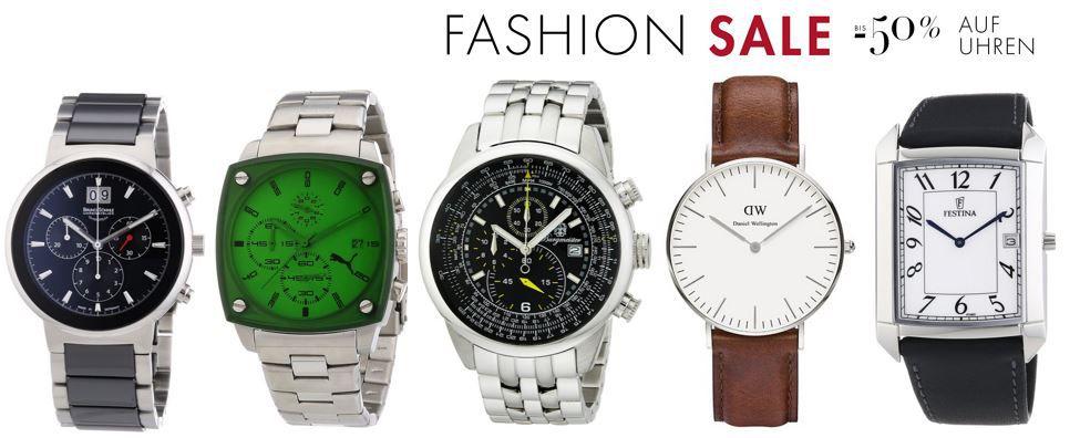 5€ Gutschein (10€ MBW) auf Uhren im Sale bei Amazon