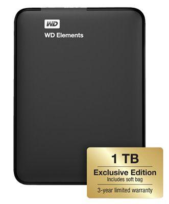 Western Digital Elements Portable 1TB Exclusive Edition + Schutzhülle ab 54€
