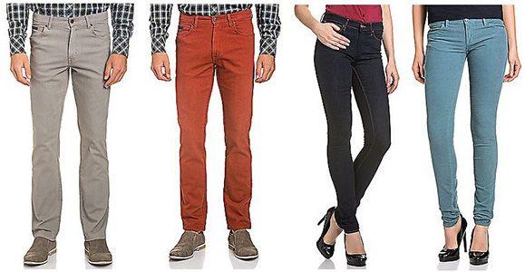 Wrangler Denim Fit Jeans Wrangler Denim Fit Jeans für Herren und Damen für je 29,95€