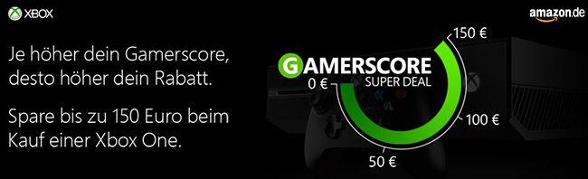 Bis zu 150€ Rabatt auf eine Xbox One Konsole dank Xbox Gamerscore