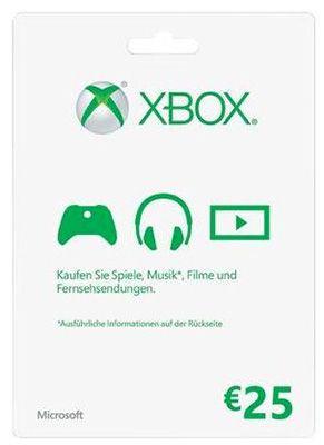 Xbox Live 25€ Guthabenkarte für 19,45€