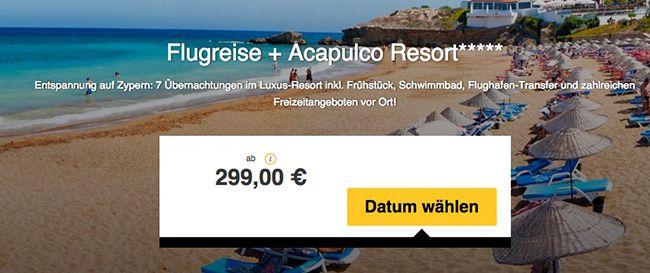 Zypern Flugreise 8 Tage Zypern im 5 Sterne Hotel mit Frühstück + Flug ab 309€ p.P.